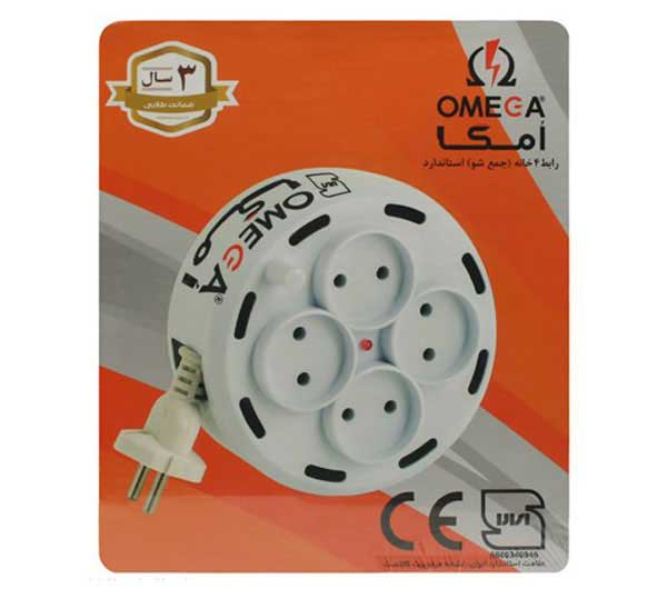Omega 4-Outlet Power Strip with Cable 5M