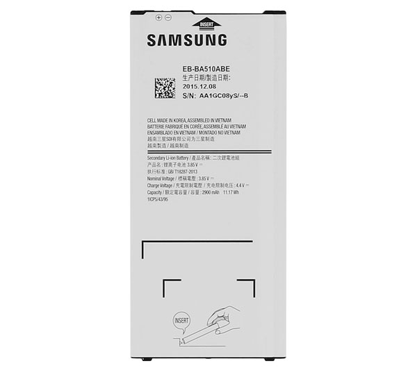 EB-BA510ABE 2900mAh Mobile Phone Battery For Samsung Galaxy A5 2016