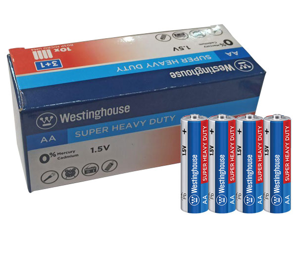 Westinghouse Super Heavy Duty AA Battery Pack of 40