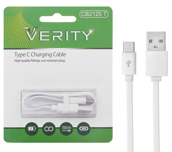 Verity CB2125T USB To USB_C Cable 0.2m